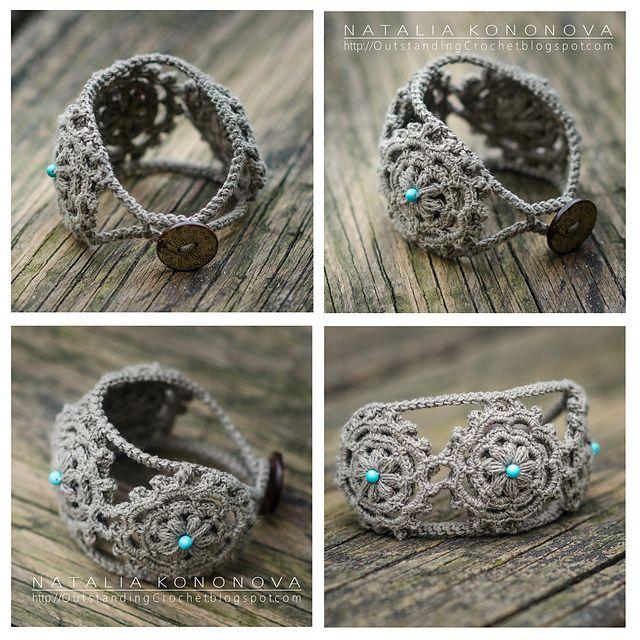 Ravelry: Konatka's Linen Boho Style Natural Bracelet