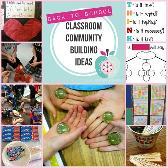 Classroom Community Building Activities for the First Week of School!