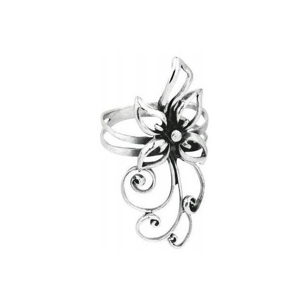FLOWER | Ring | Earrings | 925 Sterling Silver | EMP Merchandising:::... ($22) ❤ liked on Polyvore