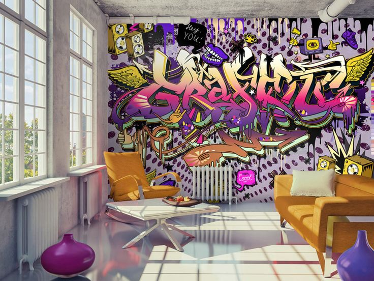 die besten 25 graffiti tapete ideen auf pinterest stra engraffiti graffiti kunstwerk und. Black Bedroom Furniture Sets. Home Design Ideas