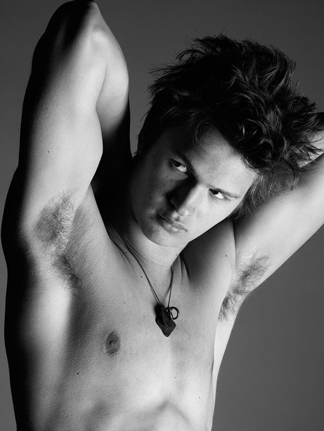 Swoon! The Fault in Our Stars' Ansel Elgort poses shirtless for Interview Magazine!