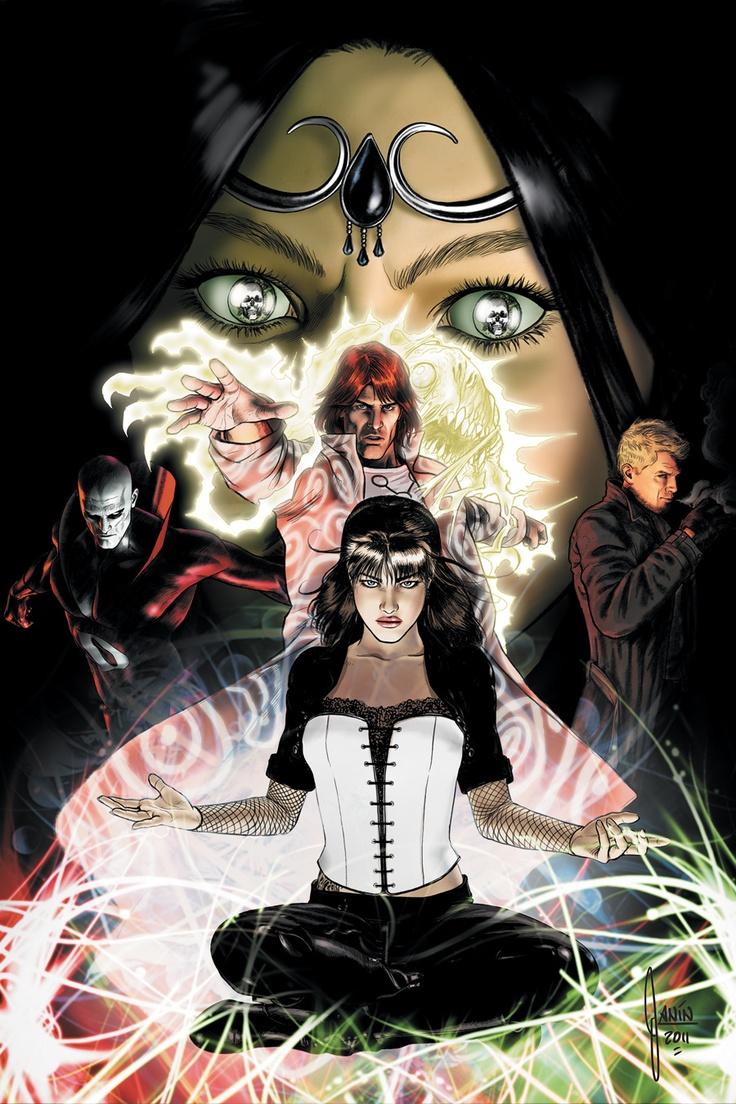 Justice League Dark, sadly slain in the name of the New 52. Zatanna and the gang...