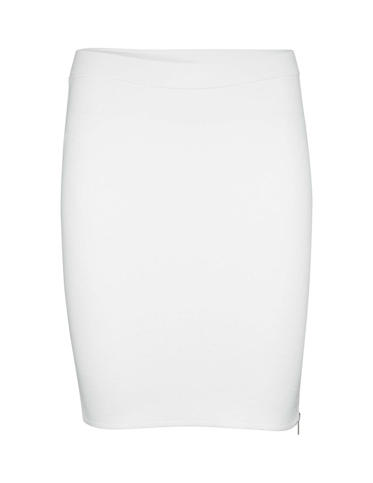 Tiger Of Sweden: Lowrie skirt-Women's white short skirt in viscose-stretch. Features concealed side zip closure. Extra-slim fit. Regular waist. Mid-thigh length.