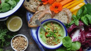 Lilly Higgins recipe: Whipped pea dip with quick dukkah