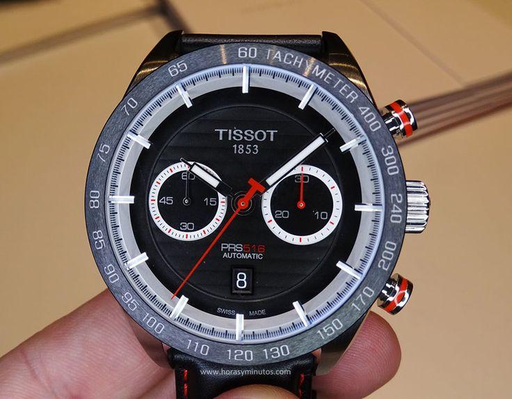 Tissot PRS 516 Automatic Chronograph rojo - frontal
