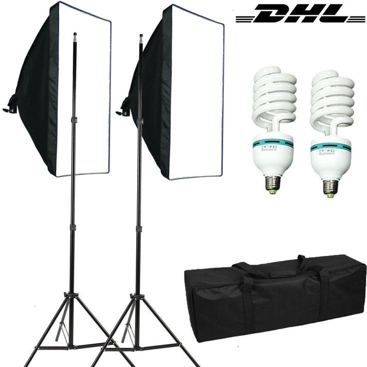 fotolampe 3x135w fotostudio set softbox studioleuchte studiolampe galgenstativ geschenk