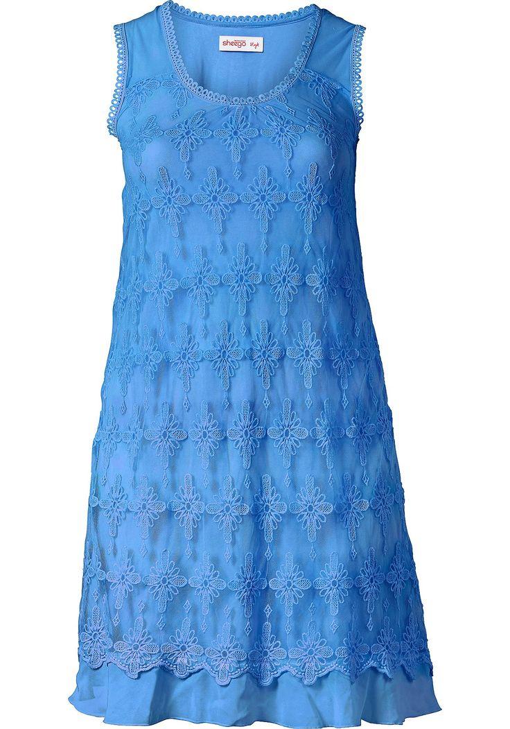 sheego Style Spitzenkleid - blau | Damenmode online kaufen