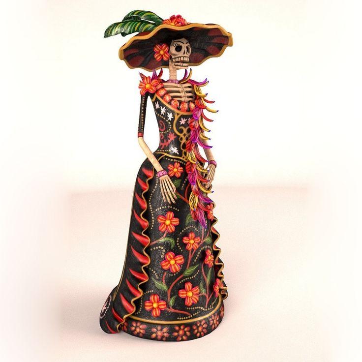 f te des morts calavera catrina d guis e en costume traditionnel calavera costume pinterest. Black Bedroom Furniture Sets. Home Design Ideas