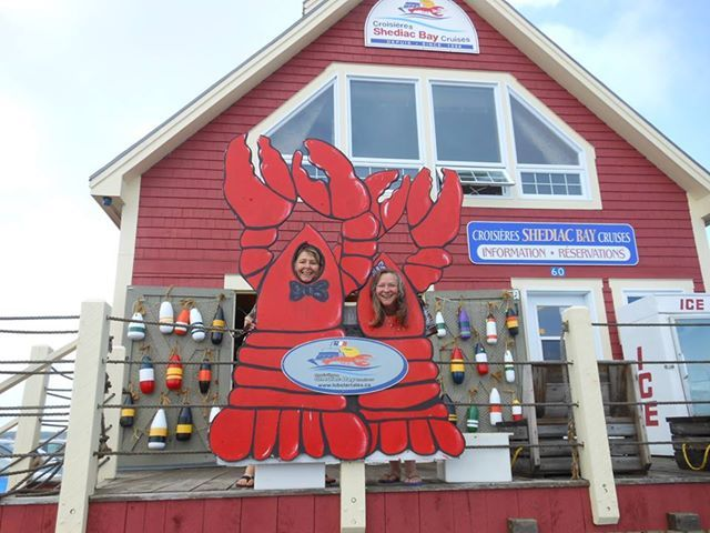 Lobster heads at Shediac Bay Cruises in Shediac, New Brunswick.