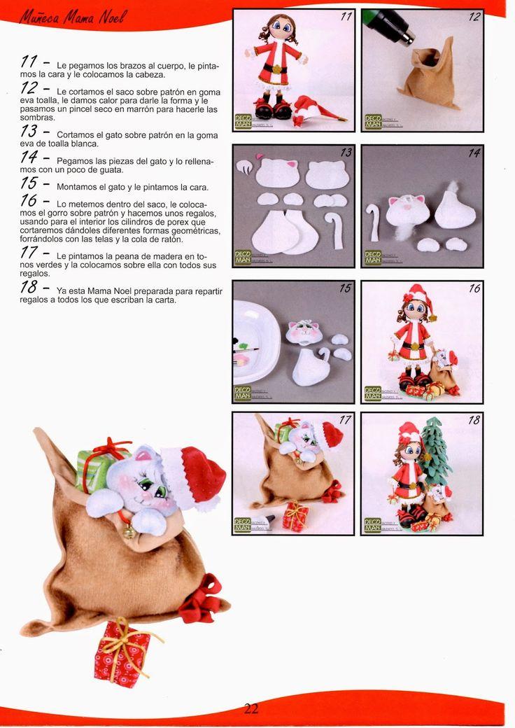 como hacer fofuchos navideños revista gratis