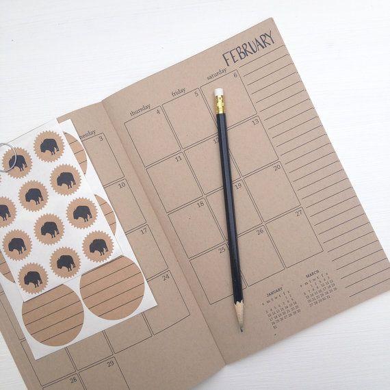 2016 Kraft Monatsplaner von lettercdesign auf Etsy
