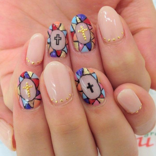 41 stained glass cool nail designs