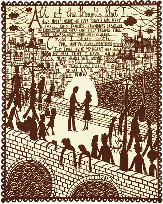 Rob Ryan's valentine print.