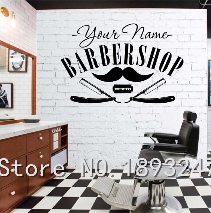 Aliexpress.com : Buy Hair Salon Sticker Decal Hair Gentleman Posters Shave Wall Art Decals Barber Shop Parede Decor Decoration Mural Salon Sticker from Reliable stickers uv suppliers on keke-lp
