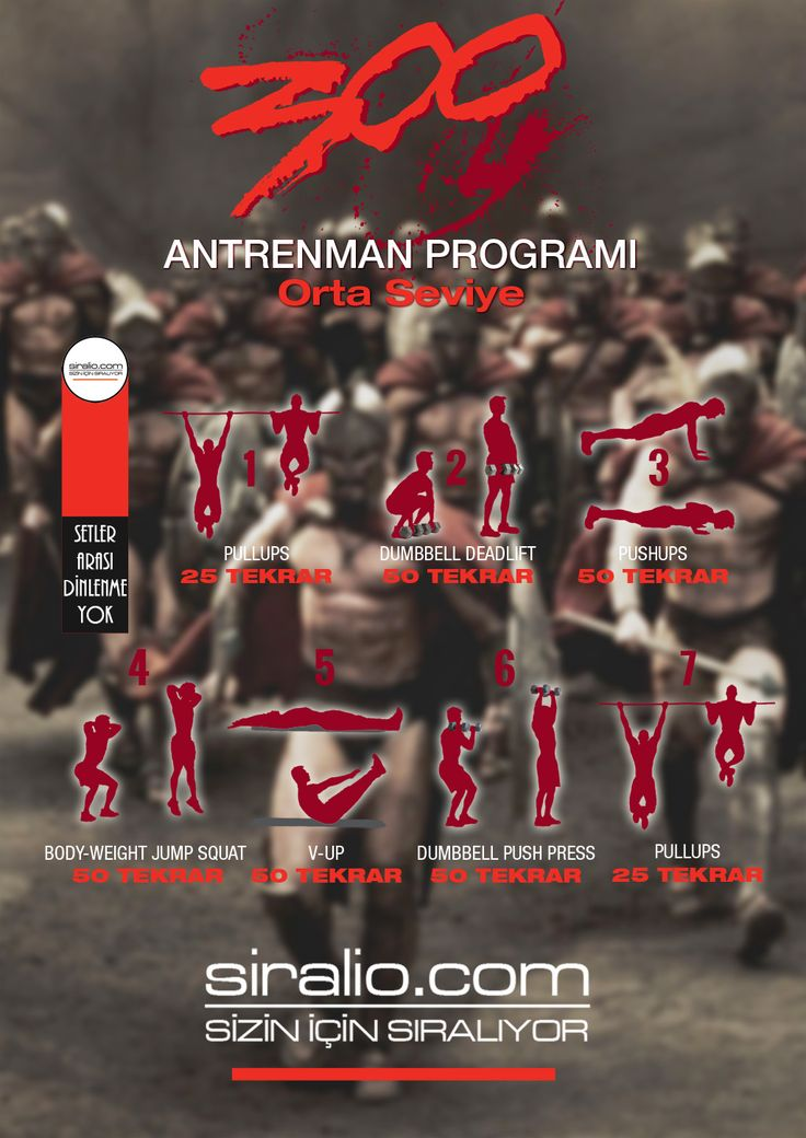 300 SPARTALI ANTRENMAN PROGRAMI - ORTA SEVİYE | siralio.com