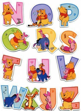 Raised Relief Sticker Set featuring the Adorable Winnie the Pooh and his Pals Helping Your Children Learn the Alphabet 31x48cm: Amazon.co.uk: Kitchen & Home