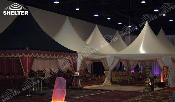 SHELTER Outdoor Gazebo Tent Gazebo Tent - High Peak Structures - Reception Canopy Marquee - Catering Hall with Top Roof - Glass Tent for Sale -32