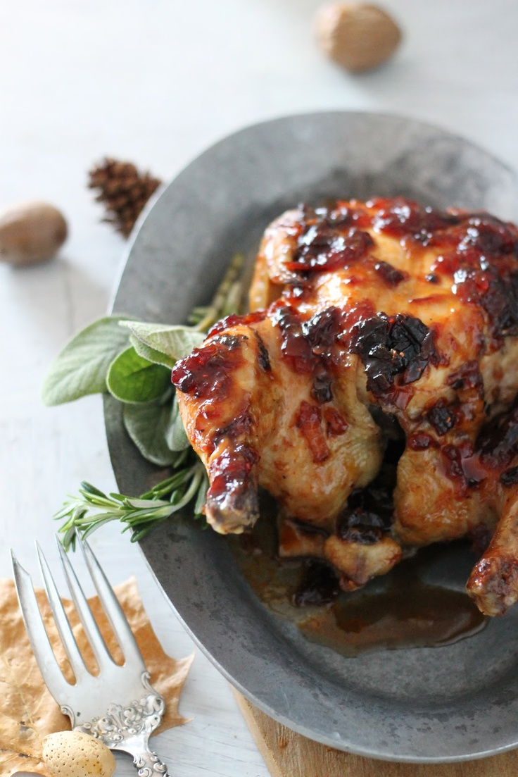 Game Hens with Cranberry, Chipotle, Adobo Sauce