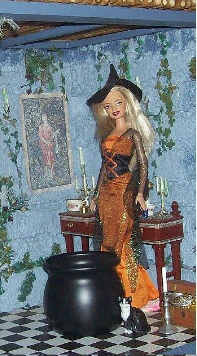 Barbie Doll Witch Trick or treat!!