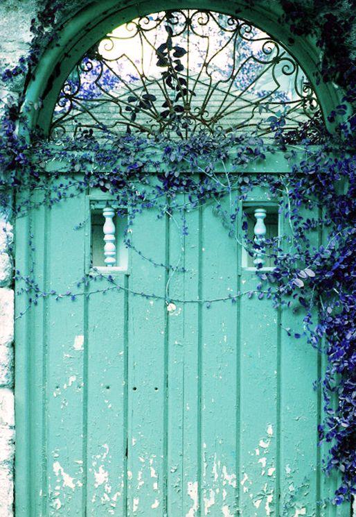 Old door, Aqua ✿⊱╮