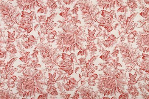 Mammys Garden - Robert Allen Fabrics Lacquer Red