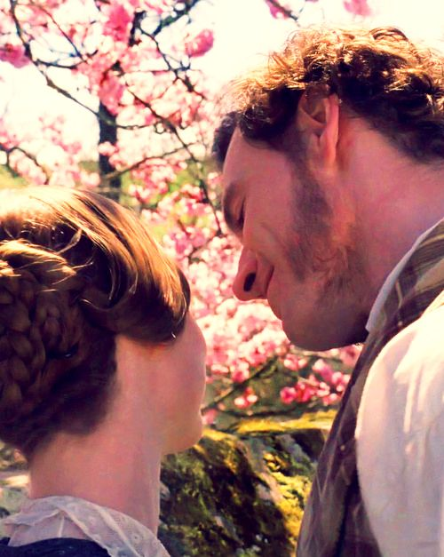 Mr. Rochester and Jane. LOVE this shot. Look at his face