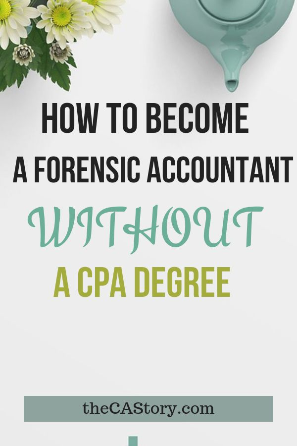 How I Became a Forensic Accountant With Only a Forensic ...