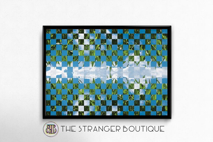 Abstract Photography - Square Pattern - Geometric Art - Abstract Print - Blue And Green - Nature Photography - Printable Art - Modern Poster by Thestrangerboutique on Etsy