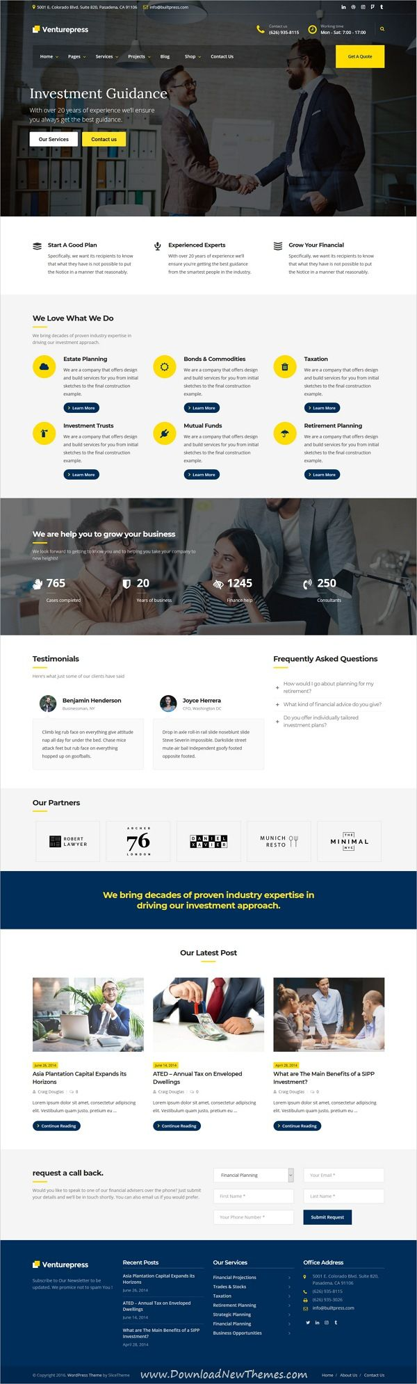 VenturePress is clean and modern design 3in1 responsive #WordPress #template for corporate #business and professional services website to live preview & download click on image or Visit 👆