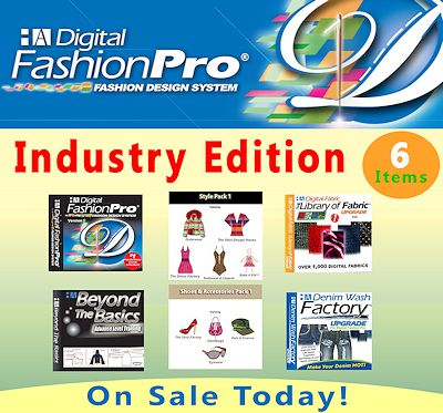 Digital Fashion Pro Fashion Design Software Industry Edition for use by beginners and clothing line fashion designers