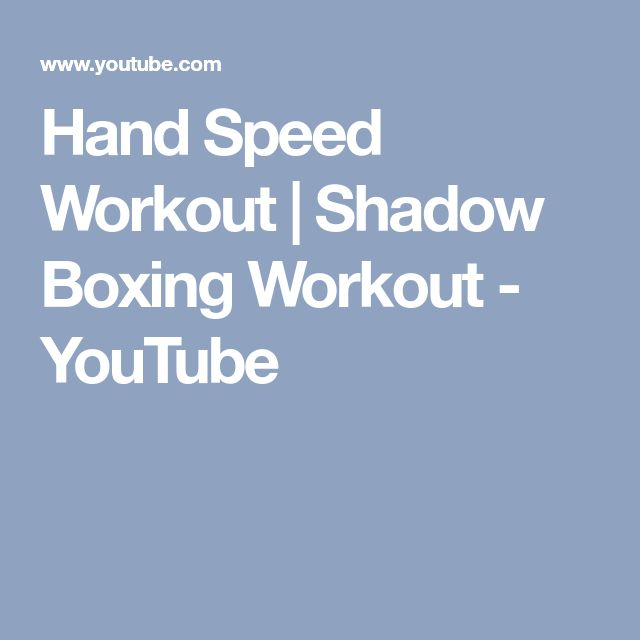 Hand Speed Workout | Shadow Boxing Workout - YouTube