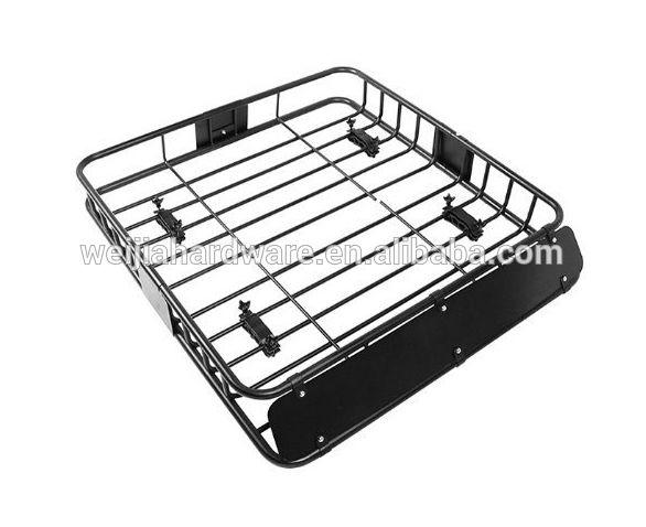 Black Universal Roof Rack Cargo Car Top Luggage Holder Carrier Basket Travel SUV