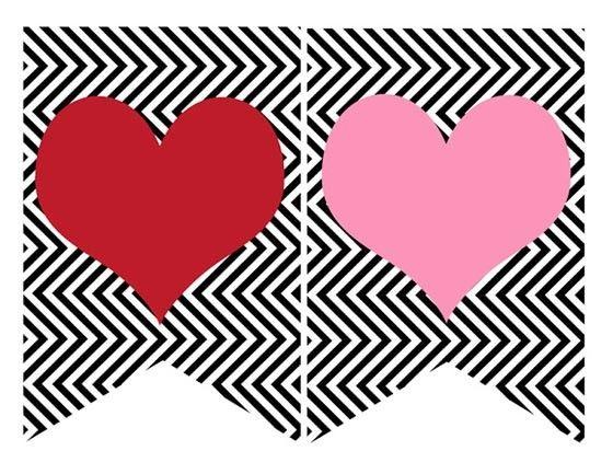 Banderines de Corazones para San Valentín - Cosas de Fiestas