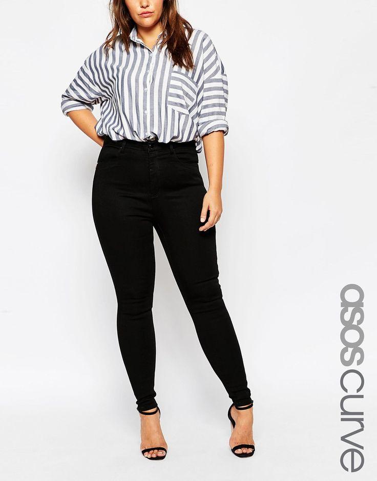 ASOS Curve | Черные джинсы с завышенной талией ASOS CURVE Sculpt Me на ASOS