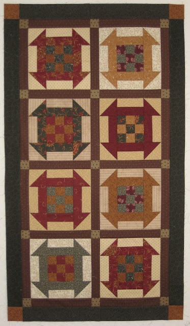 """Based on the """"All in a Row"""" pattern from Kim Diehl's """"Simple Comforts"""" book."""