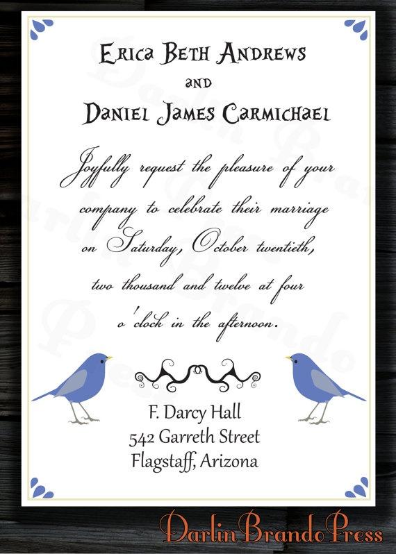 Love Birds Wedding Invite