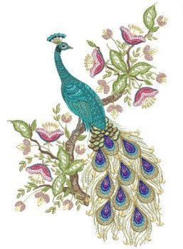 Peacock quilt block by SomethingSpecial2013 on Etsy, $12.00