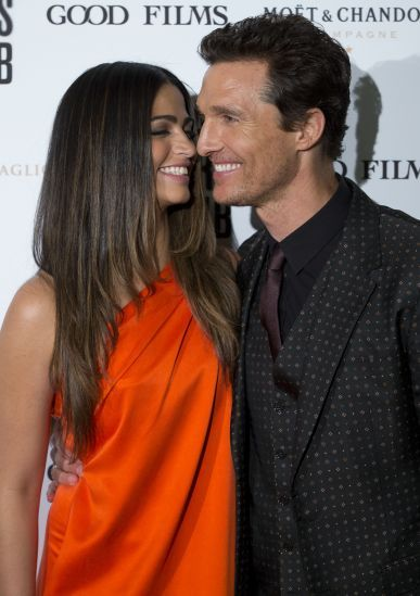 Camila Alves and Matthew McConaughey  (2014)