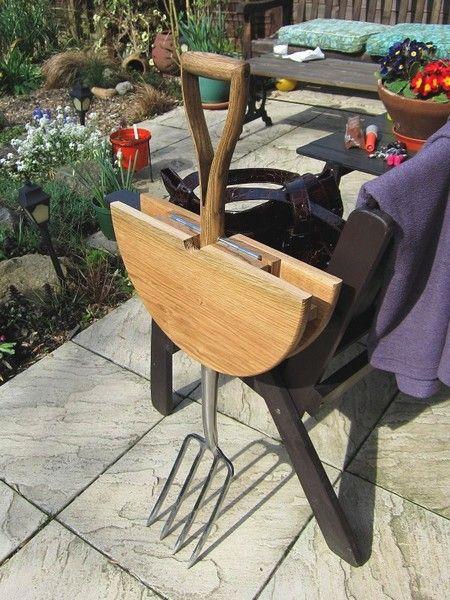 Garden Fork Table by Natalie Sampson, 6 Creative Backyard Ideas and DIY Project Inspirations Vanessa Johnston