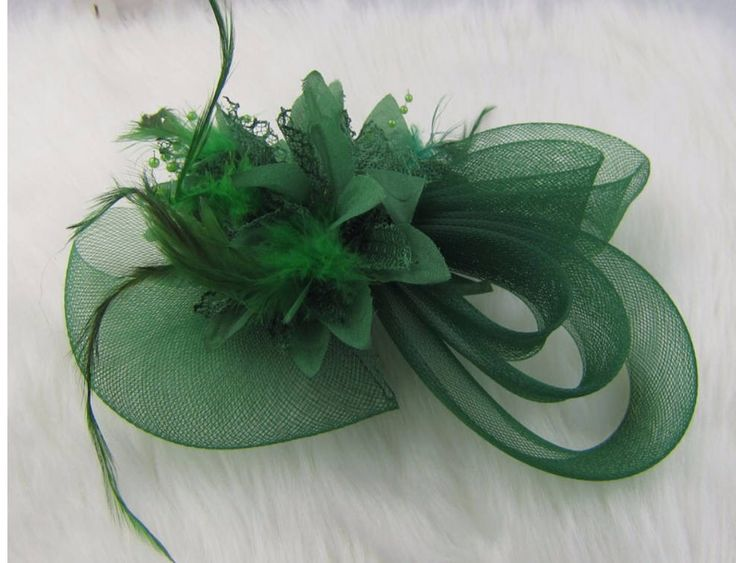 Green Fascinator, Green Wedding Hat, Kentucky Durby Hat, Bridesmaid Hat, Floral Headpiece, Cocktail Party Hat, Mini Hat, Kate Middle Crownje by CrownJewellUSA on Etsy https://www.etsy.com/listing/556230269/green-fascinator-green-wedding-hat