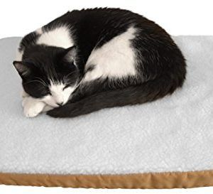 purrvana electric heated pet bed thick fluffy heated pet mat 58x43cm size - Heated Pet Beds