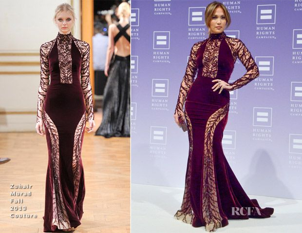 Jennifer Lopez In Zuhair Murad – 2013 Human Rights Campaign National Dinner