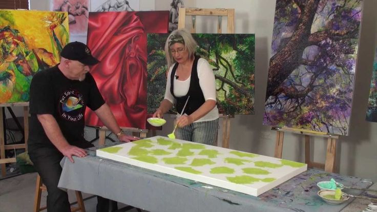 """Tutorial with De Gillet, Australian artist """"You are going to be a miserable person if you don't paint!"""" ;)"""