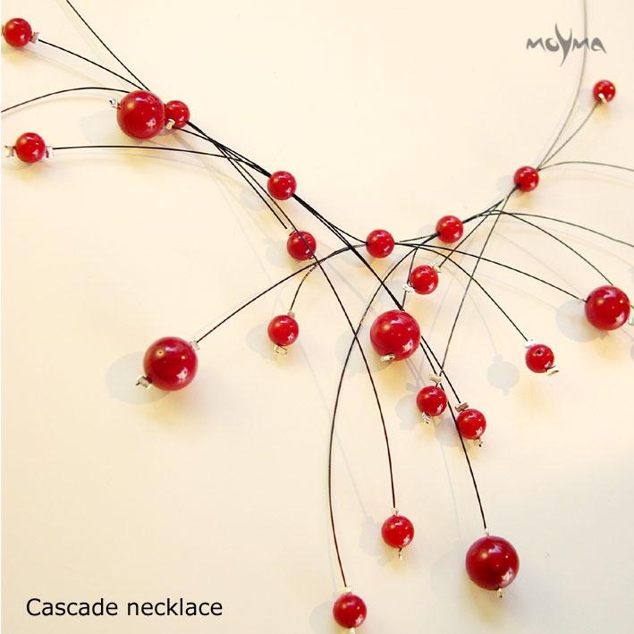 Coral cascade Necklace