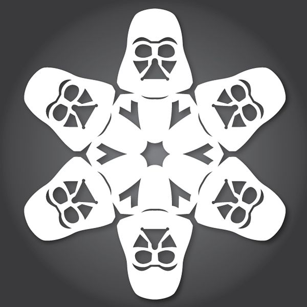 "free printable ""star wars"" snowflake templates (laughingsquid.com)"