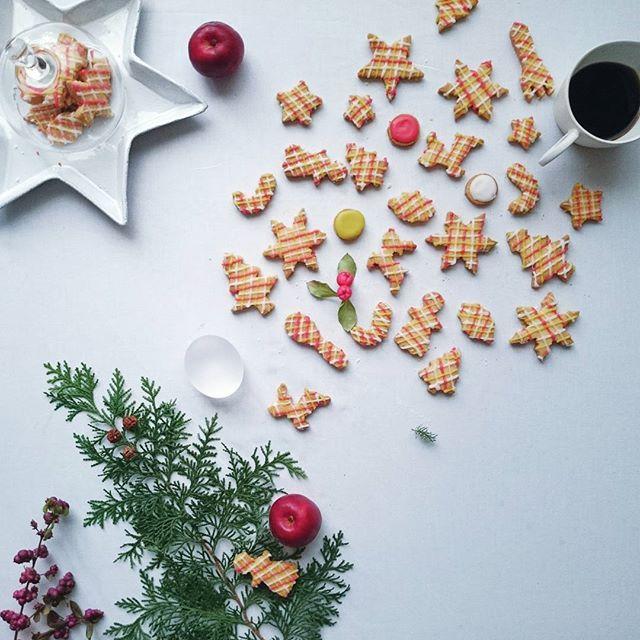 * * Cookies 🍪# . . クリスマスの型でチェックのクッキー。 クッキー地は サブレなので ホロホロサクサク。 チェックにするのは 適当な性格がわざわいして グニャグニャだけど楽しかった。 . . この玉子型のガラス。 こないだの 灯し人の集いで購入したのですが、 誰の作品か忘れてしまって💦 すごくお気に入りなので しつこく登場。。 * * *