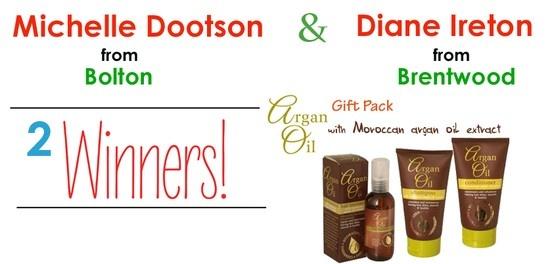 Argan Oil Gift Pack Winners