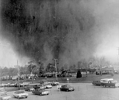 Scott Sabol's World of Weather: Xenia Tornado - April 3, 1974 - A Look Back. Click on the picture to see footage  of the actual Broadcast from WHIO TV Channel 7 showing Gil Whitney warning residents of the coming tornado on a very primitive Doppler weather radar, as well as 8 mm. footage of the tornado, and aftermath photos.