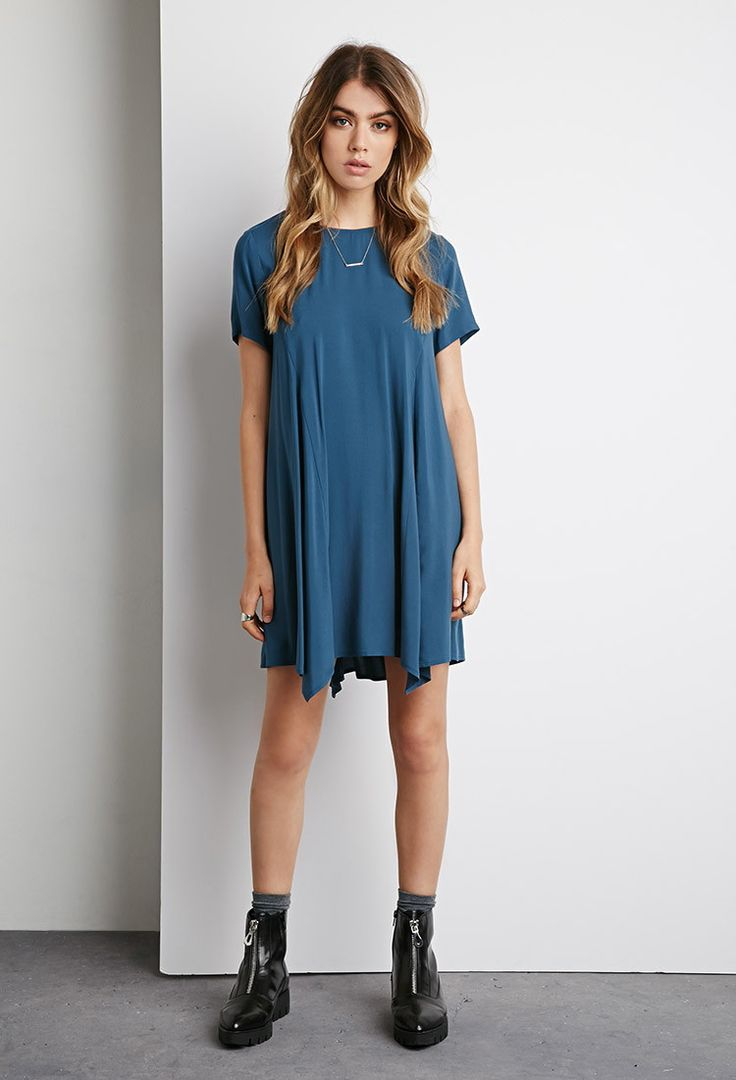 Pointed Hem Trapeze Dress | Forever 21 Canada