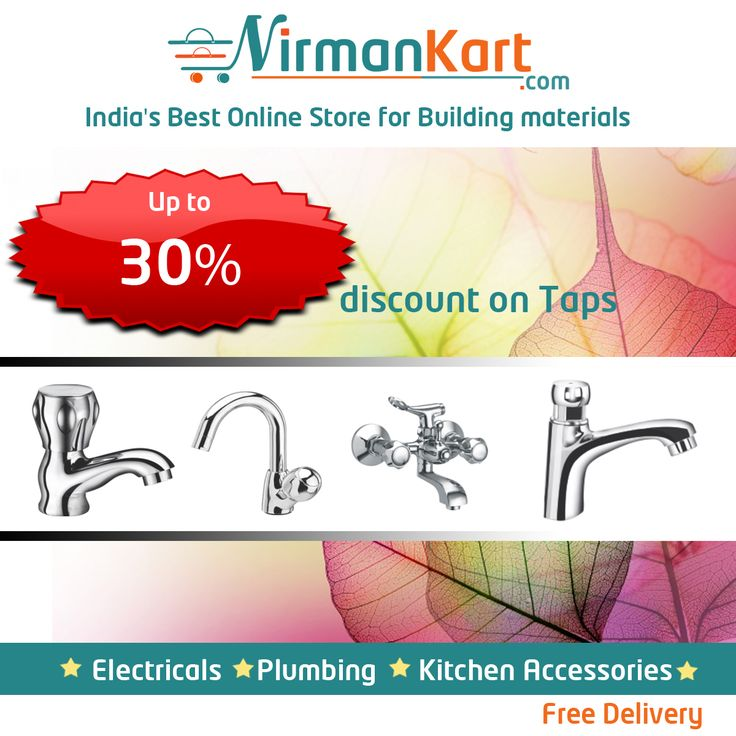 Buy taps online at www.nirmankart.com  30% discount on #Taps.